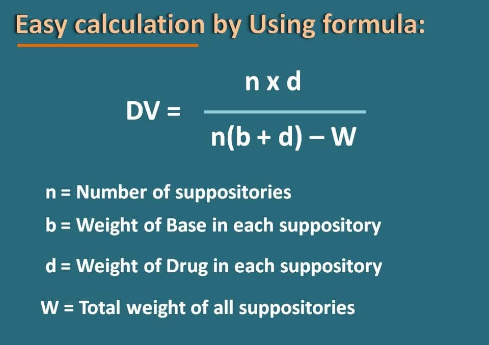 easy formula for calculation of displacement value