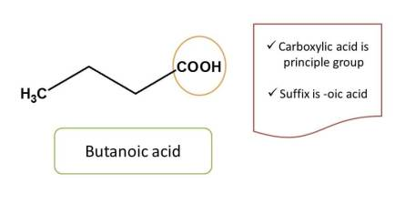 carboxylic acid in butanoic acid
