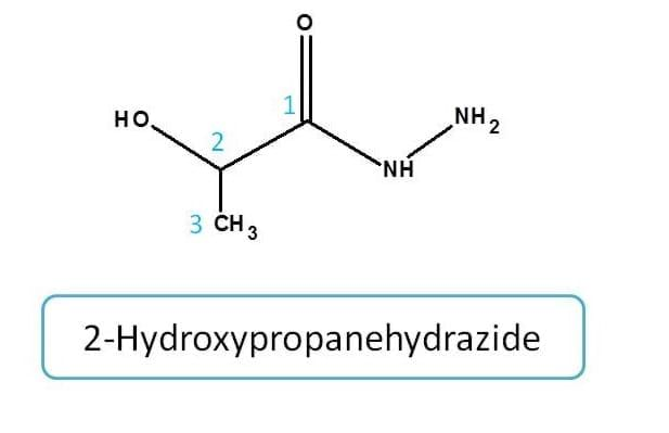 IUPAC naming of hydrazide