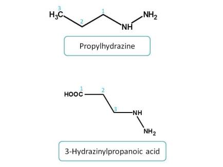 IUPAC naming of hydrazines
