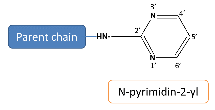 N-pyrimidin-2-yl ring in sulfadiazine