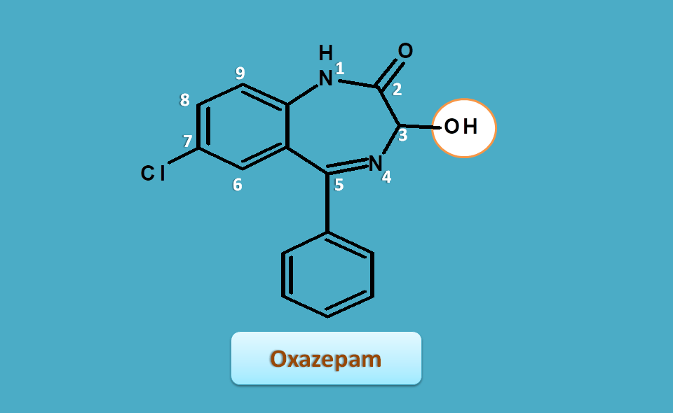 structure of oxazepam