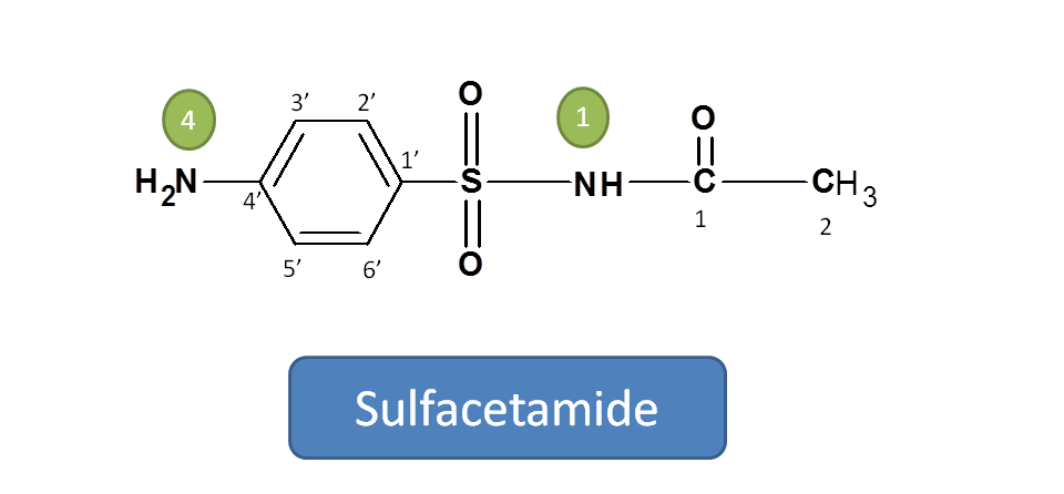 Structure of sulfacetamide