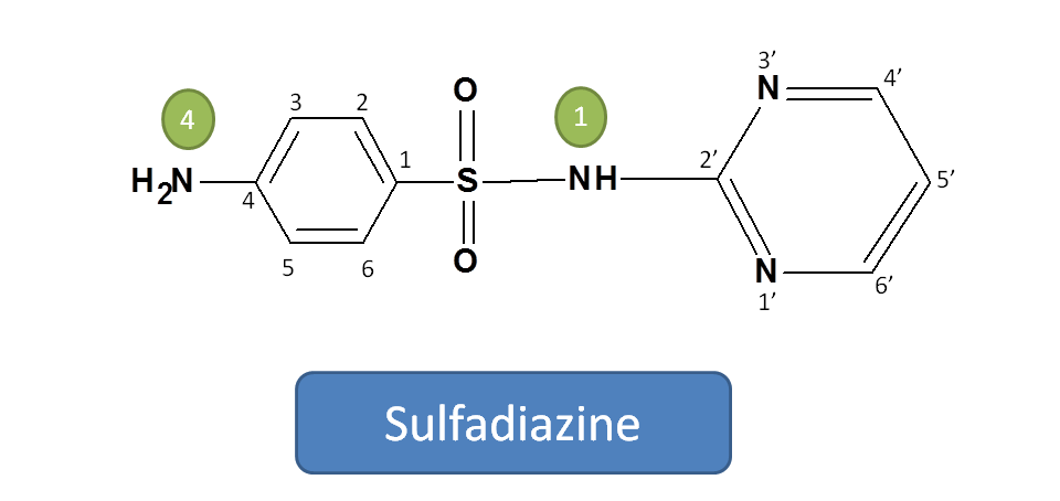 Structure of sulfadiazine