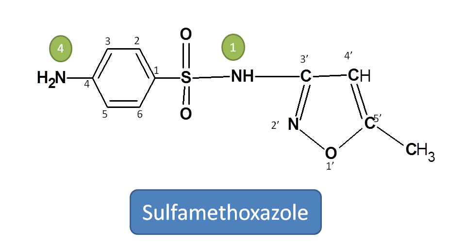Structure of sulfamethoxazole