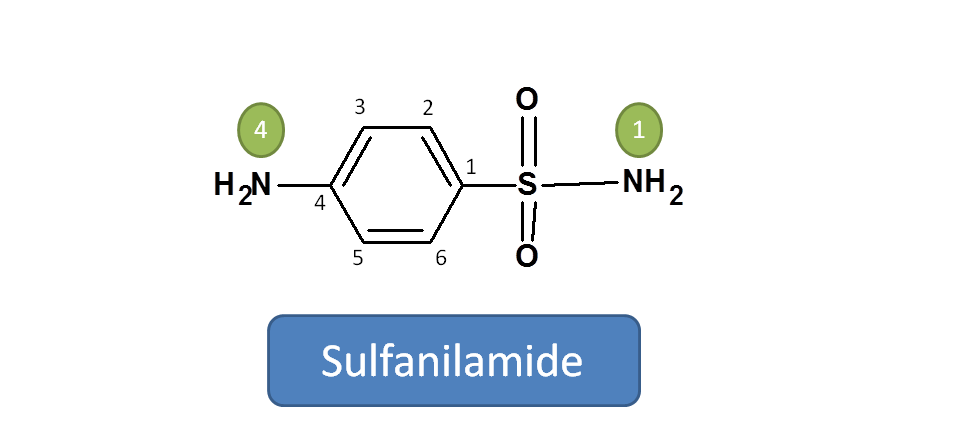 Structure of sulfanilamide