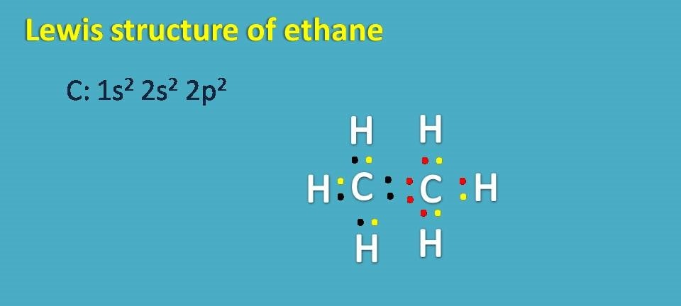 lewis dot structure of ethane