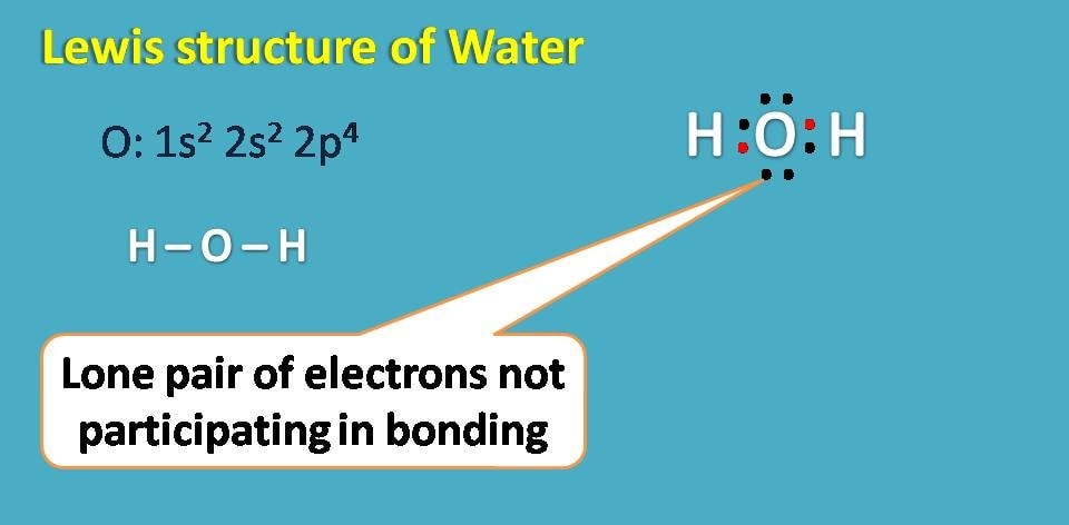 lone pairs in water