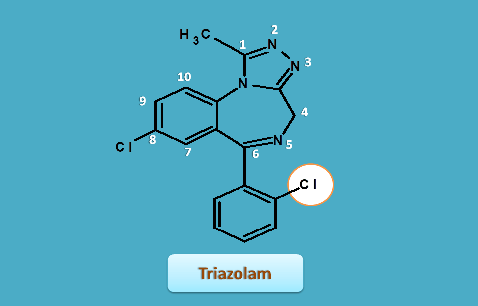 structure of triazolam