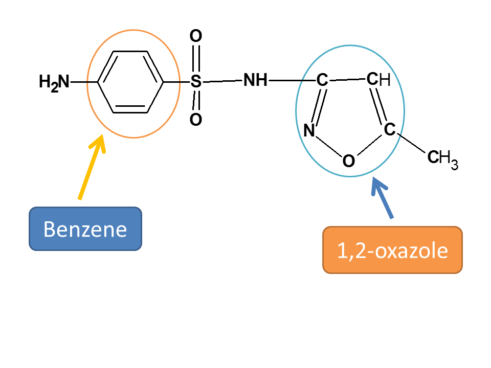 Isoxazole ring in sulfamethoxazole