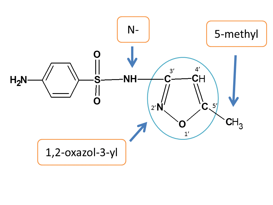 various side chains in sulfamethoxazole