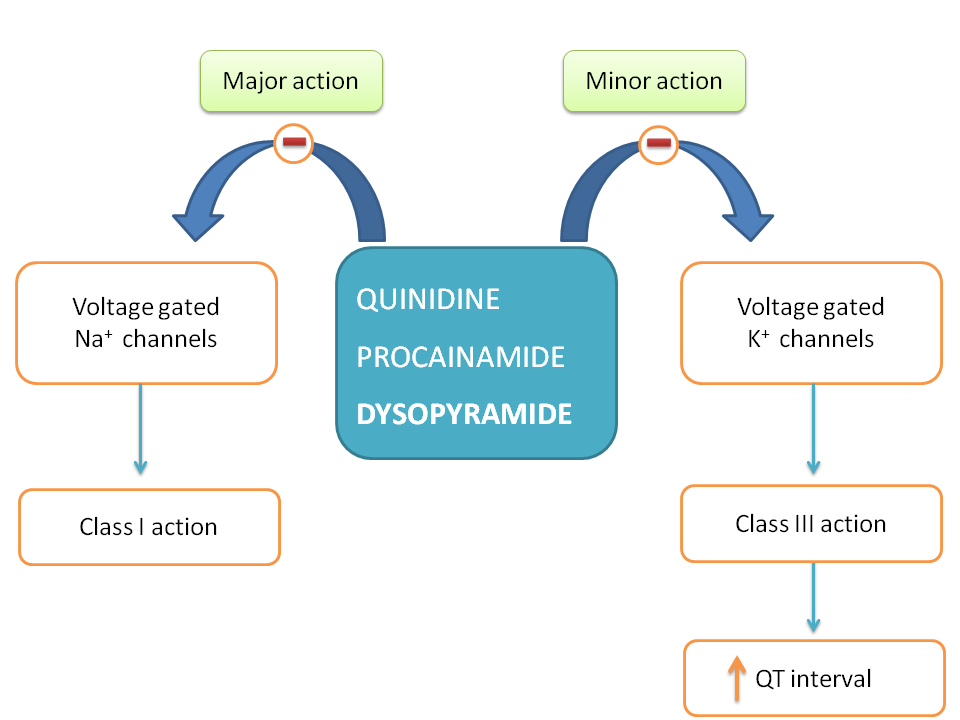 Proarrhythmic action of class I antiarrhythmic agents leading to torsade de pointes