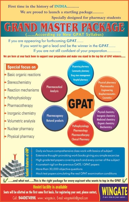 Features of GPAT coaching