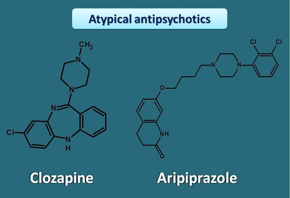 atypical antipsychotics with different chemical nature