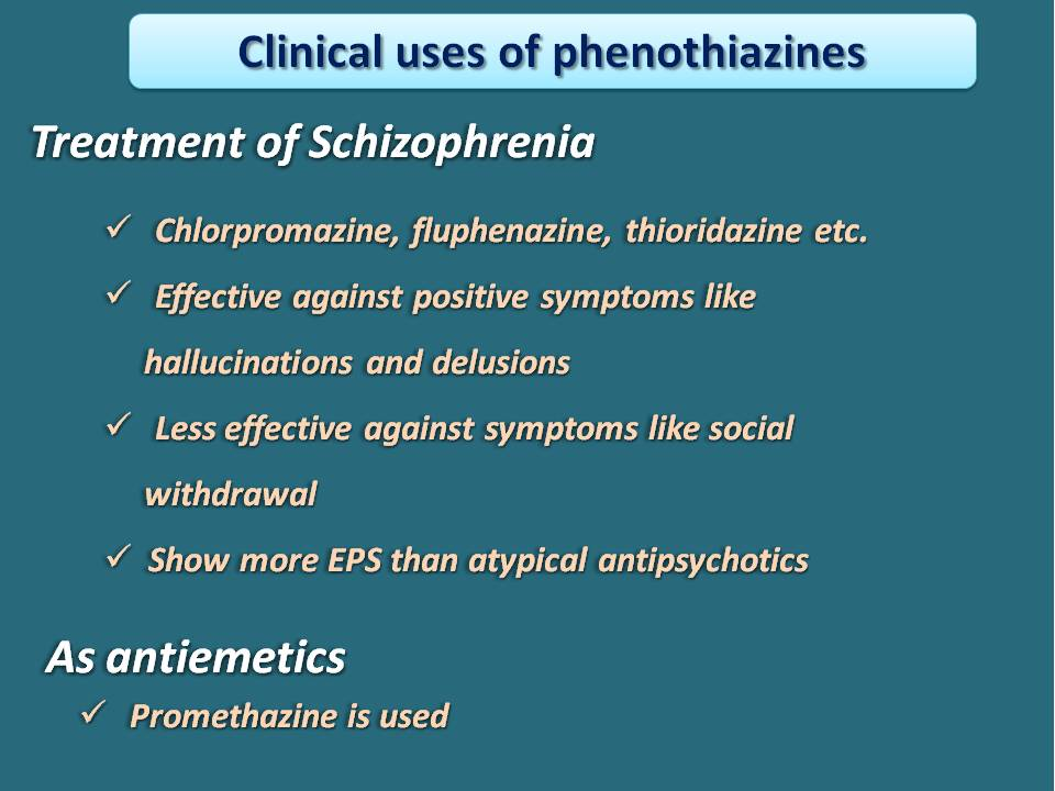 clinical uses of phenothiazines